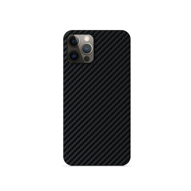 Silikonové TPU pouzdro Epico Carbon pro Apple iPhone 12/12 Pro, černá