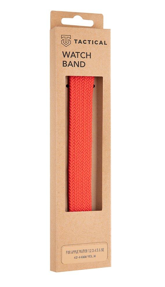 Pletený řemínek Tactical 778 M, Apple Watch 42mm/44mm, červená