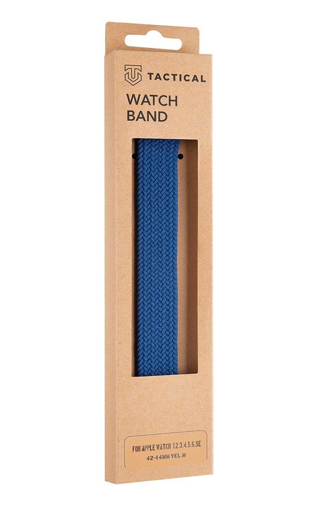 Pletený řemínek Tactical 775 M, Apple Watch 42mm/44mm, modrá