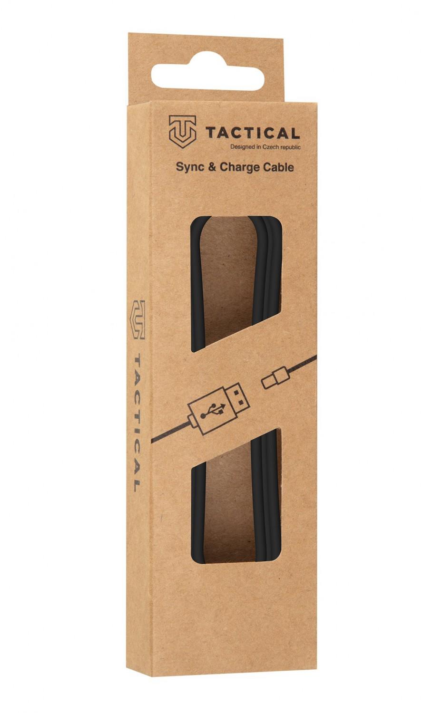 Kabel Tactical Smooth Thread Cable USB-A/USB-C, 0.3m, černá