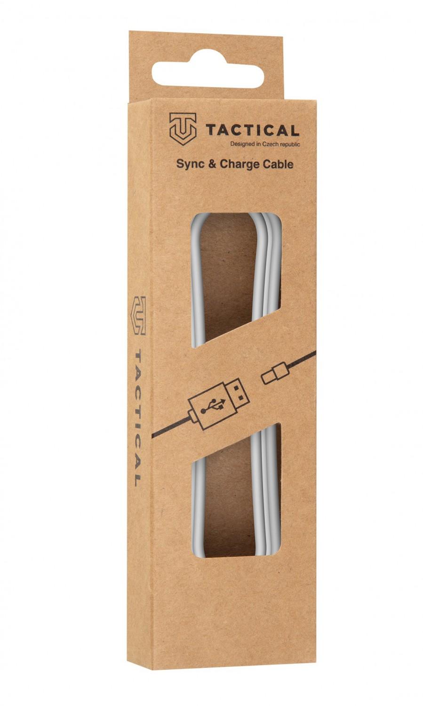 Kabel Tactical Smooth Thread Cable USB-A/USB-C, 0.3m, bílá