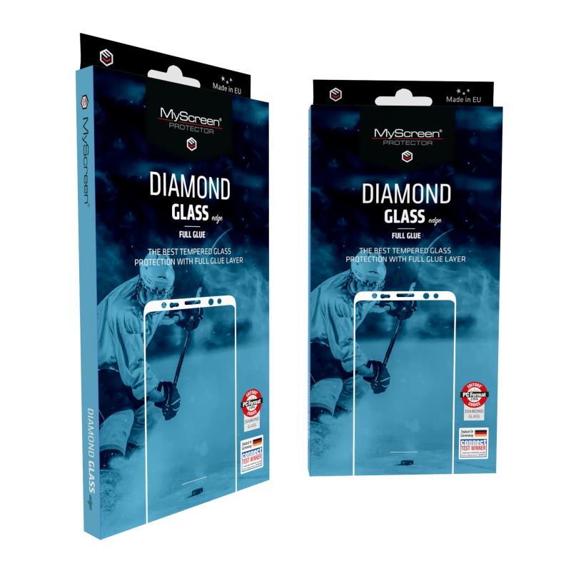 Ochranné sklo MyScreen Diamond Glass Edge FullGlue pro Apple iPhone 12/12 Pro, černá