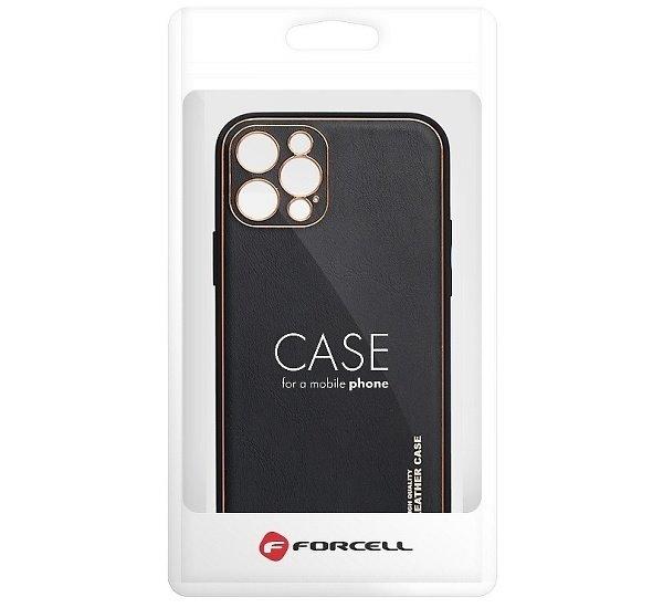 Ochranný kryt Forcell LEATHER pro Apple iPhone 13 Pro Max, černá