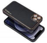 Kryt ochranný Forcell LEATHER pro Apple iPhone 13 Pro, černá