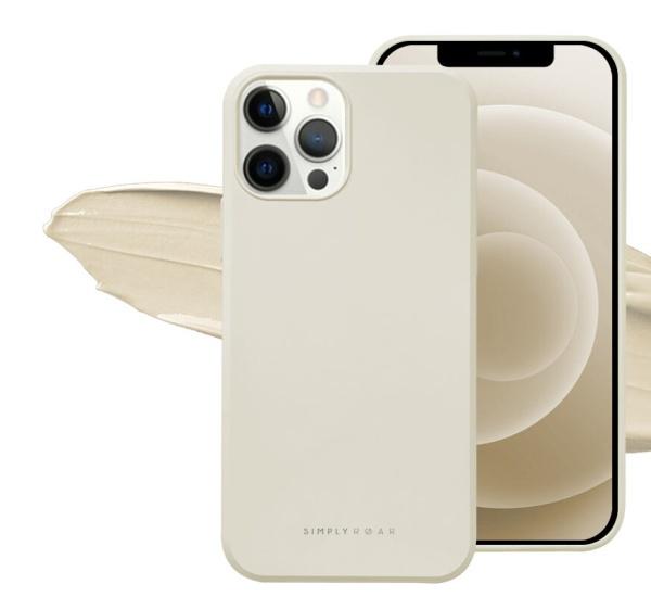 Zadní kryt Roar Space pro Apple iPhone 13 Pro Max, krémová