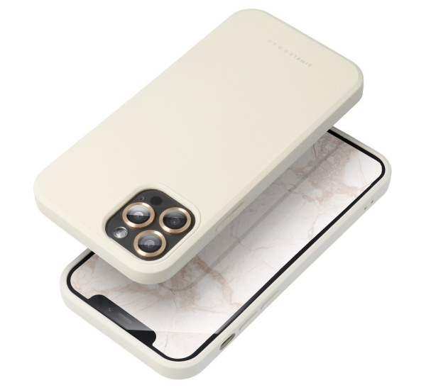 Zadní kryt Roar Space pro Apple iPhone 13 mini, krémová