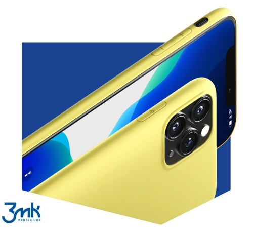 Ochranný kryt 3mk Matt Case pro Apple iPhone 13 Pro, žlutozelená
