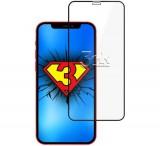 Tvrzené sklo 3mk HardGlass Max Lite pro Apple iPhone 13 Pro Max, černá