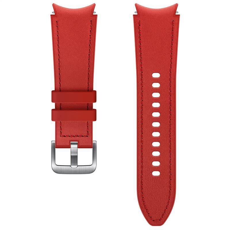 Hybridní kožený řemínek Samsung ET-SHR88SREGEU, velikost S/M 20mm, červená