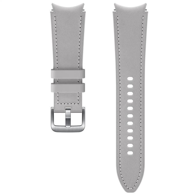 Hybridní kožený řemínek Samsung ET-SHR89LSEGEU, velikost M/L 20mm, stříbrná