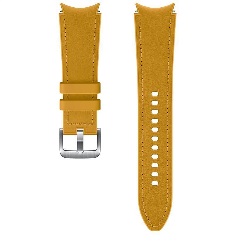 Hybridní kožený řemínek Samsung ET-SHR89LYEGEU, velikost M/L 20mm, oranžová