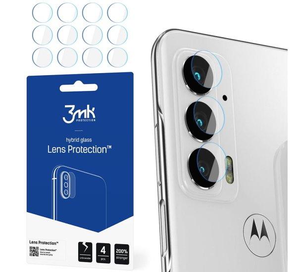 Hybridní sklo 3mk Lens ochrana kamery pro Motorola Edge 20 (4ks)