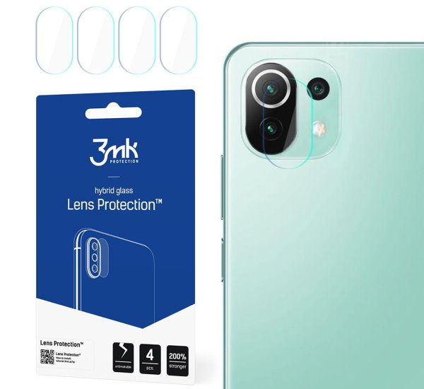 Hybridní sklo 3mk Lens ochrana kamery pro Xiaomi Mi 11 Lite (4ks)