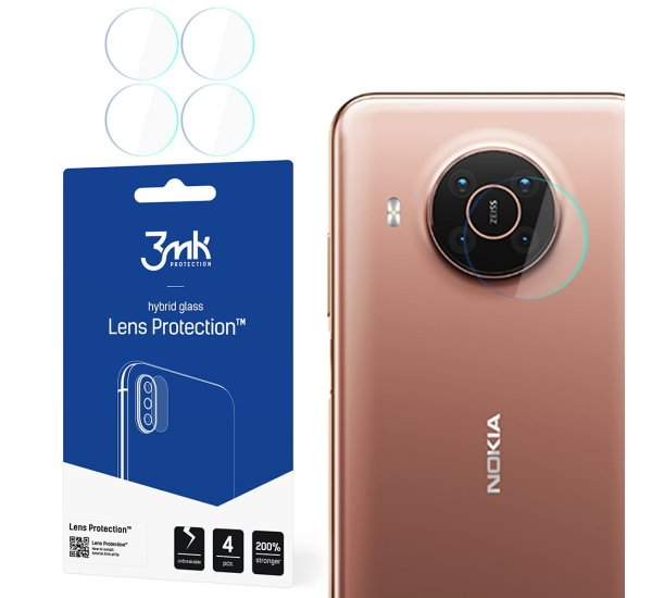 Hybridní sklo 3mk Lens ochrana kamery pro Nokia X20 (4ks)