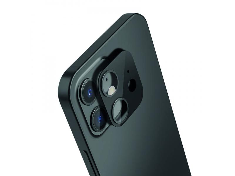 Tvrzené sklo COTEetCI Metal Corning pro Apple iPhone 12, černá