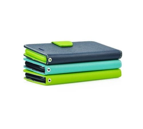 Flipové pouzdro Fancy pro Samsung Galaxy A22 5G, modrá-limetková