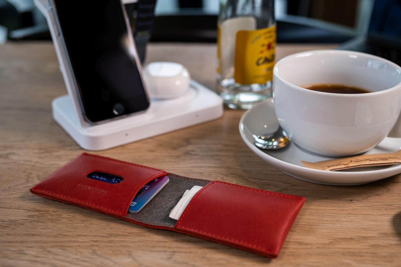 FIXED Wallet Kožená peněženka z pravé hovězí kůže, červená