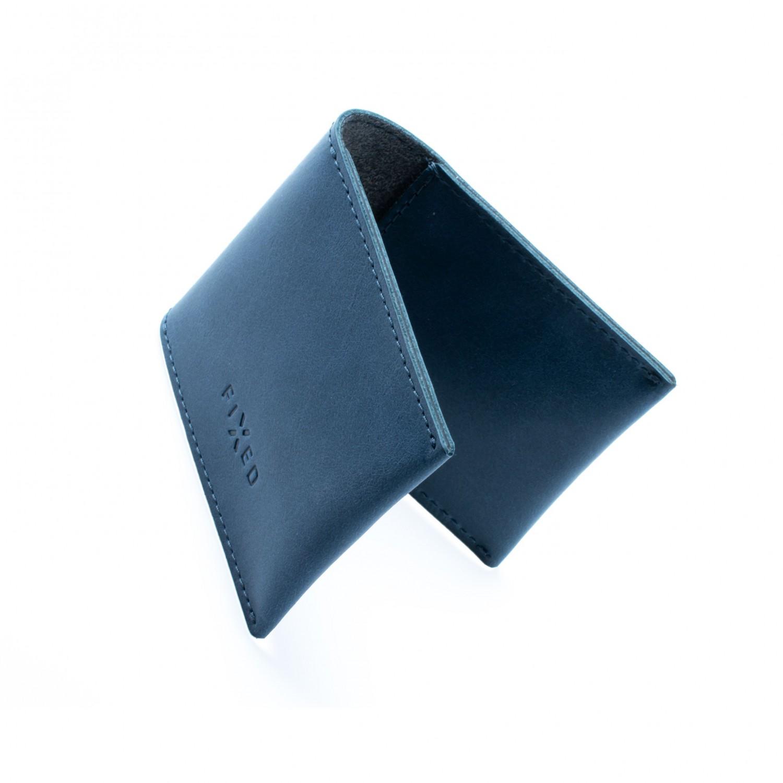 FIXED Wallet Kožená peněženka z pravé hovězí kůže, modrá