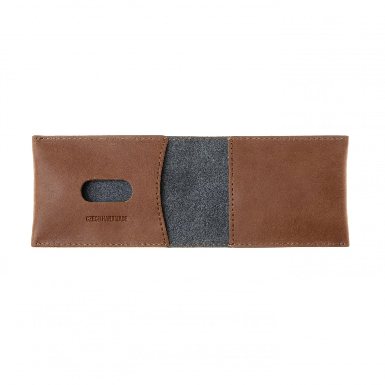 FIXED Wallet Kožená peněženka z pravé hovězí kůže, hnědá