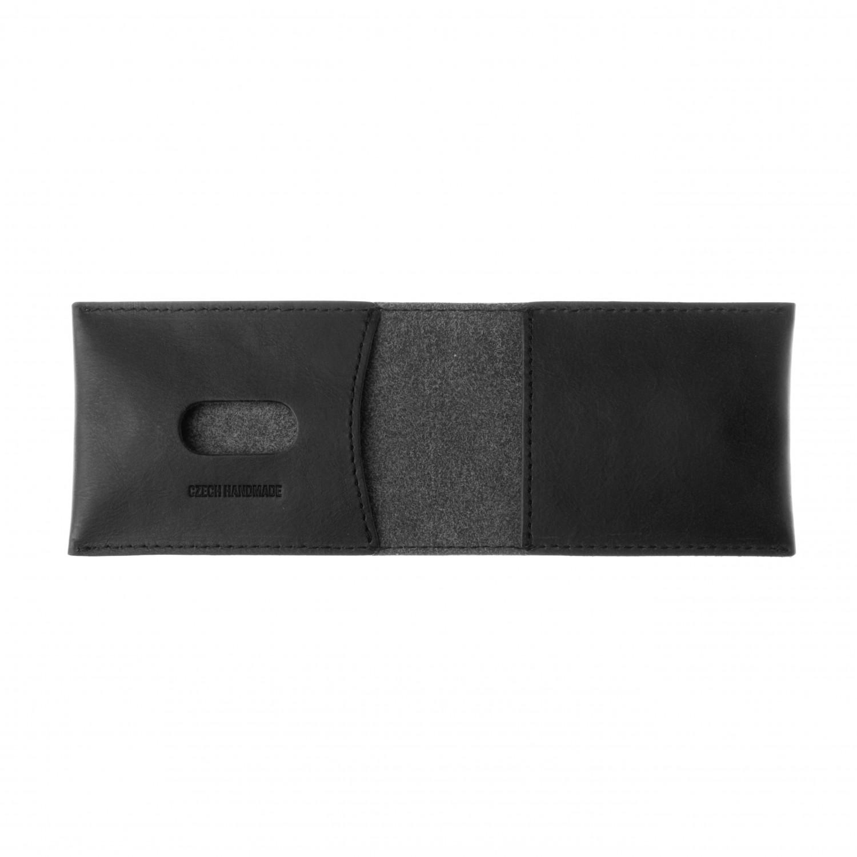FIXED Wallet Kožená peněženka z pravé hovězí kůže, černá