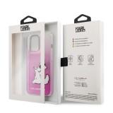 Zadní kryt Karl Lagerfeld PC/TPU Choupette Eat KLHCP13LCFNRCPI pro Apple iPhone 13 Pro, růžová