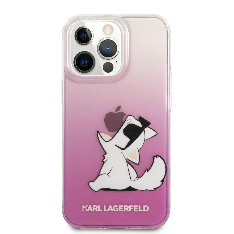 Zadní kryt Karl Lagerfeld PC/TPU Choupette Eat KLHCP13MCFNRCPI pro Apple iPhone 13, růžová