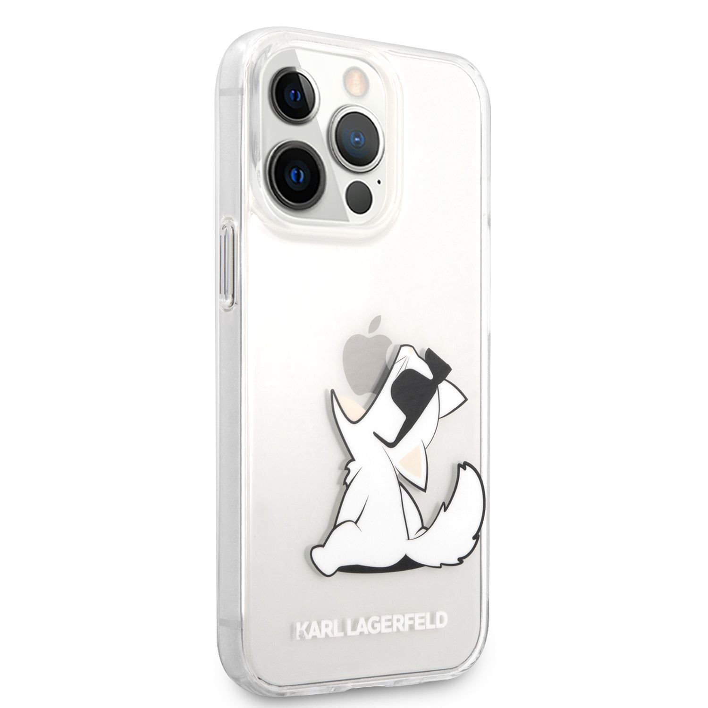 Zadní kryt Karl Lagerfeld PC/TPU Choupette Eat KLHCP13XCFNRC pro Apple iPhone 13 Pro Max, transparentní