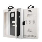 Zadní kryt Karl Lagerfeld PU Leather Karl Head KLHCP13SPKMK pro Apple iPhone 13 mini, černá