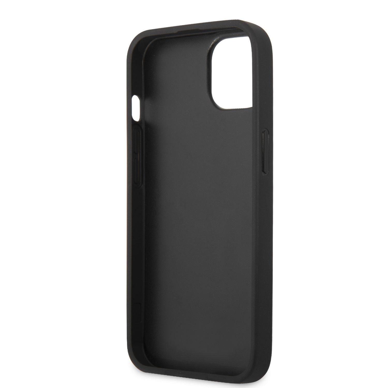 Zadní kryt Karl Lagerfeld PU Saffiano Karl Head KLHCP13SSAKHBK pro Apple iPhone 13 mini, černá