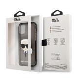 Zadní kryt Karl Lagerfeld TPU Full Glitter Karl Head KLHCP13MKHTUGLB pro Apple iPhone 13, černá