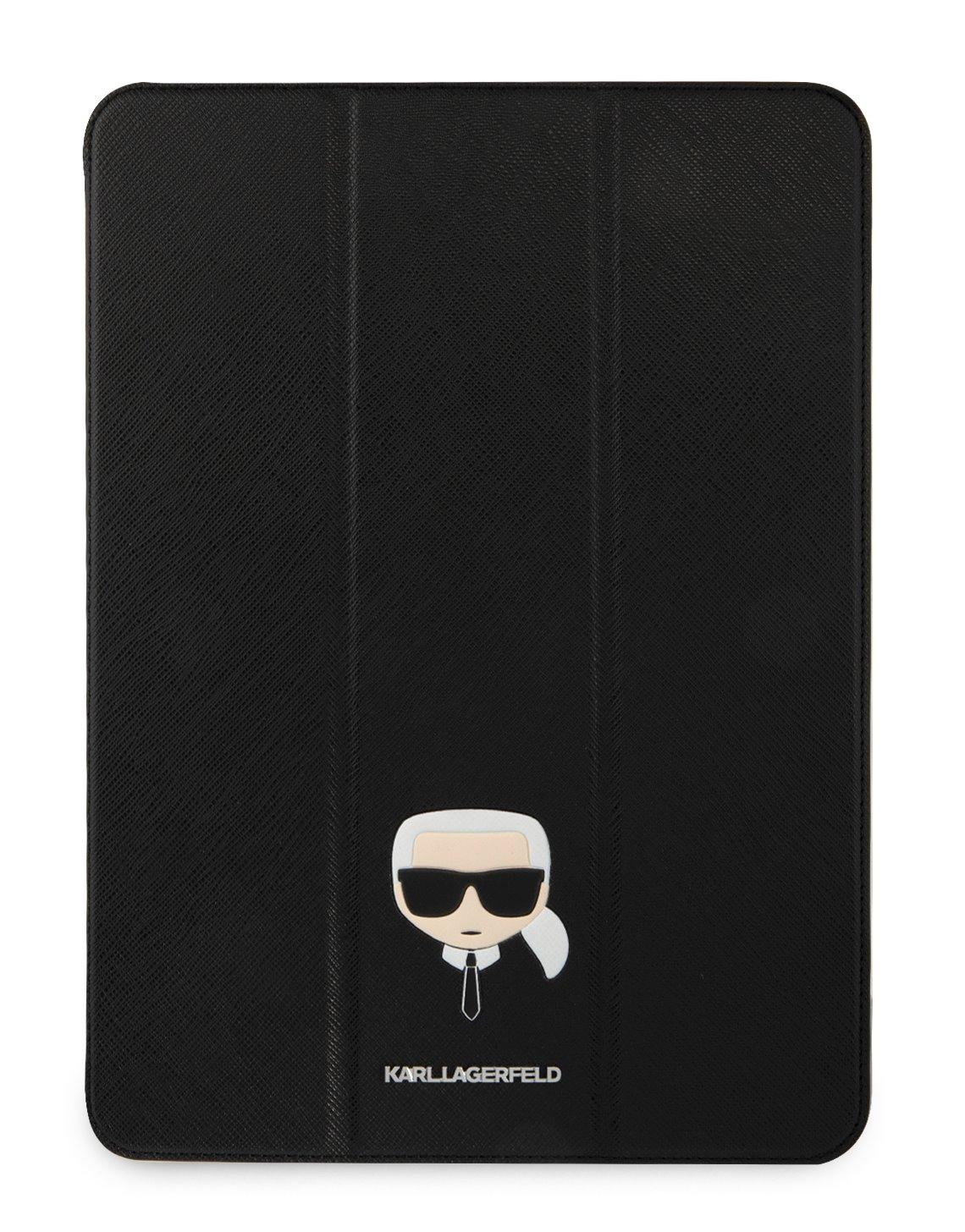 Pouzdro na tablet Karl Lagerfeld Head Saffiano KLFC12OKHK pro Apple iPad Pro 12.9, černá