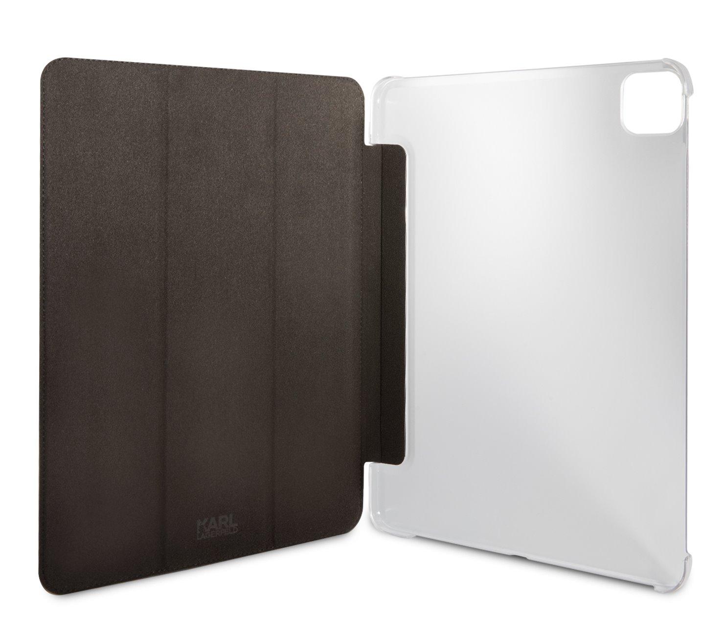 Pouzdro na tablet Karl Lagerfeld Metal Saffiano KLFC11OKMK pro Apple iPad Pro 11, černá