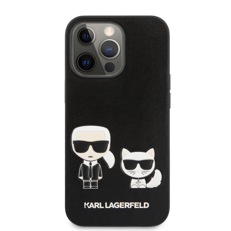 Pouzdro Karl Lagerfeld and Choupette PU Leather KLHCP13XPCUSKCBK pro Apple iPhone 13 Pro Max, černá