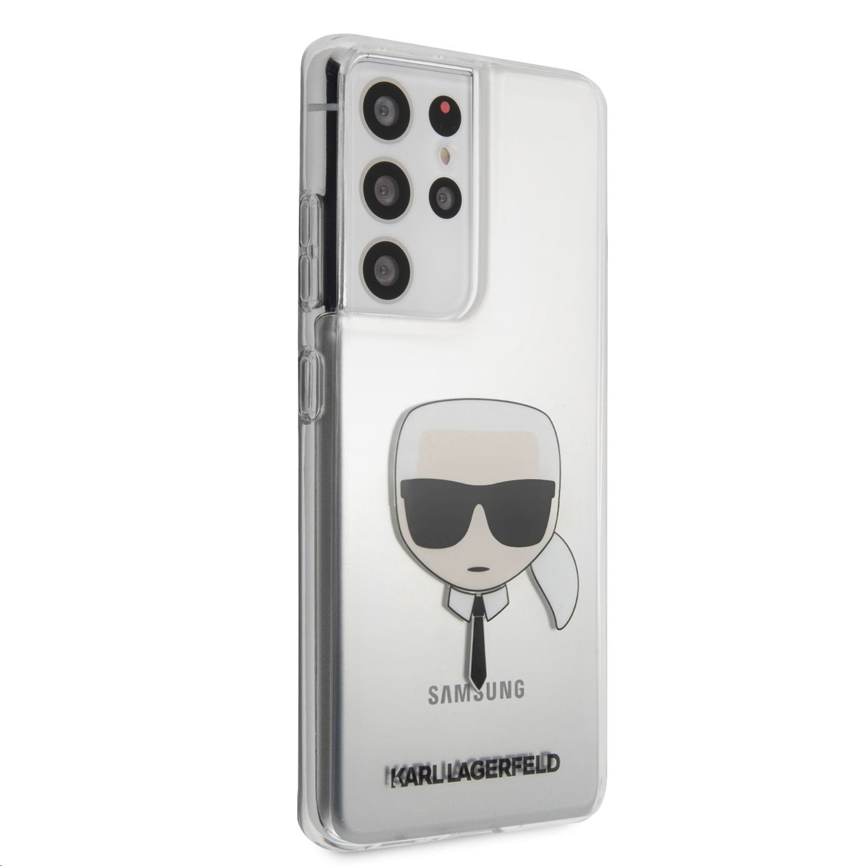 Karl Lagerfeld zadní kryt KLHCS21LKTR PC/TPU Head Kryt pro Samsung Galaxy S21 Ultra, transparentní