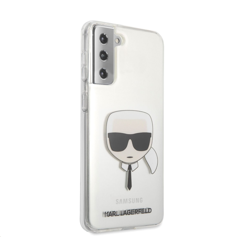 Karl Lagerfeld PC/TPU Head zadní kryt KLHCS21SKTR pro Samsung Galaxy S21, transparentní