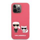 Silikonové pouzdro Karl Lagerfeld and Choupette Liquid KLHCP13MSSKCP pro Apple iPhone 13, červená