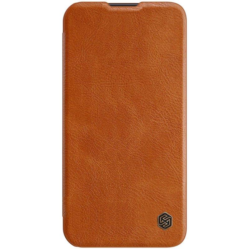 Nillkin Qin Book PRO Pouzdro pro iPhone 13 Pro Brown