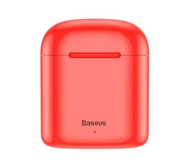 Sluchátka Bluethooth BASEUS Encok True WM09, TWS, červená