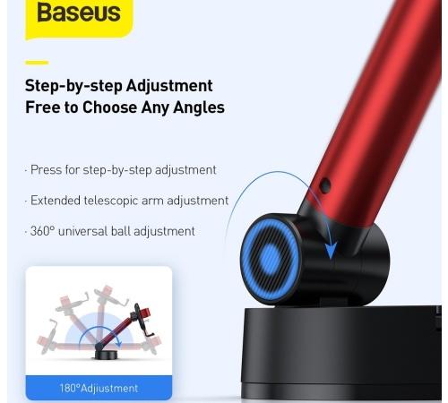 Držák do auta BASEUS Simplism Gravity SUYL-JY09, gravitační, červená