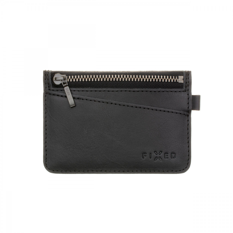 Kožená peněženka FIXED Smile Coins se smart trackerem FIXED Smile PRO, černá