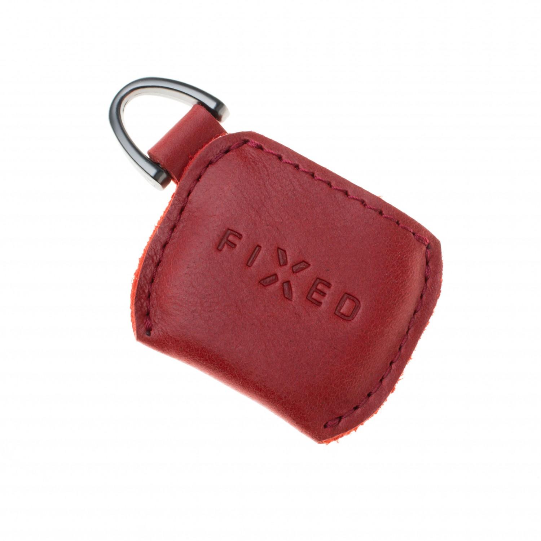 Kožené pouzdro FIXED Smile Case se smart trackerem FIXED Smile Pro, červená