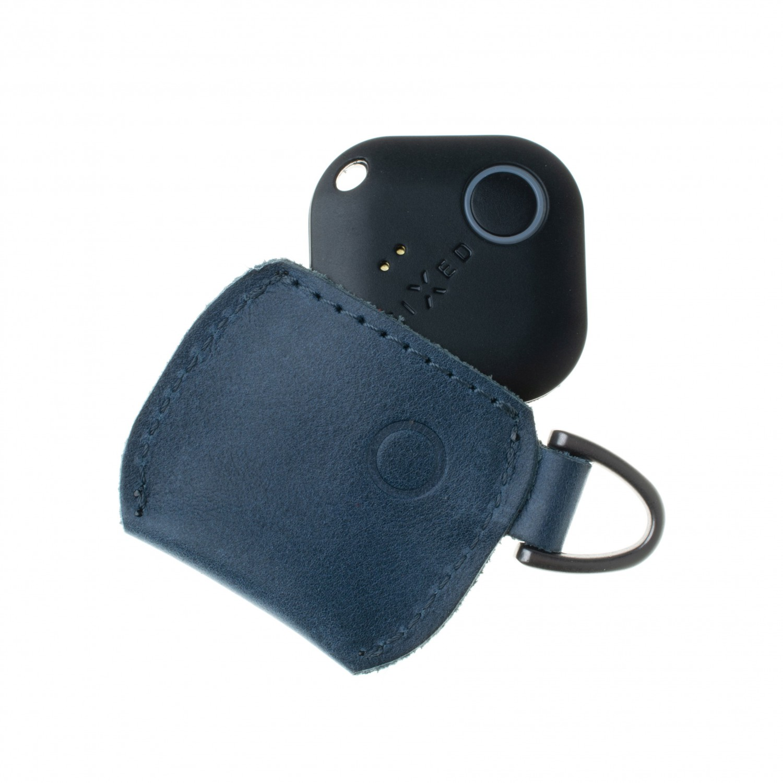 Kožené pouzdro FIXED Smile Case se smart trackerem FIXED Smile Pro, modrá
