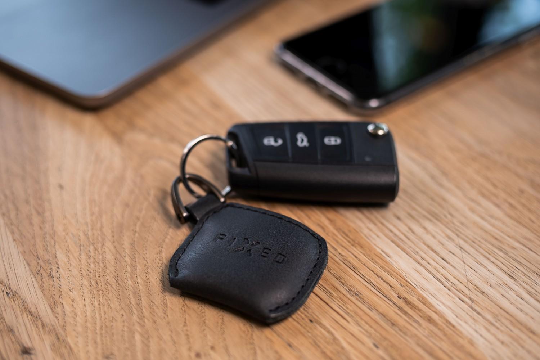 Kožené pouzdro FIXED Smile Case se smart trackerem FIXED Smile Pro, černá