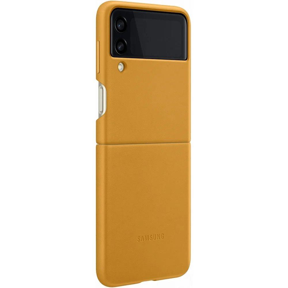 Ochranný kryt Leather Cover EF-VF711LYE pro Samsung Galaxy Z Flip 3, béžová