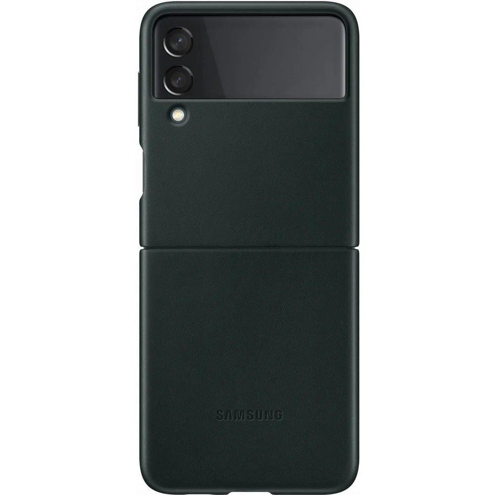 Ochranný kryt Leather Cover EF-VF711LGE pro Samsung Galaxy Z Flip 3, zelená