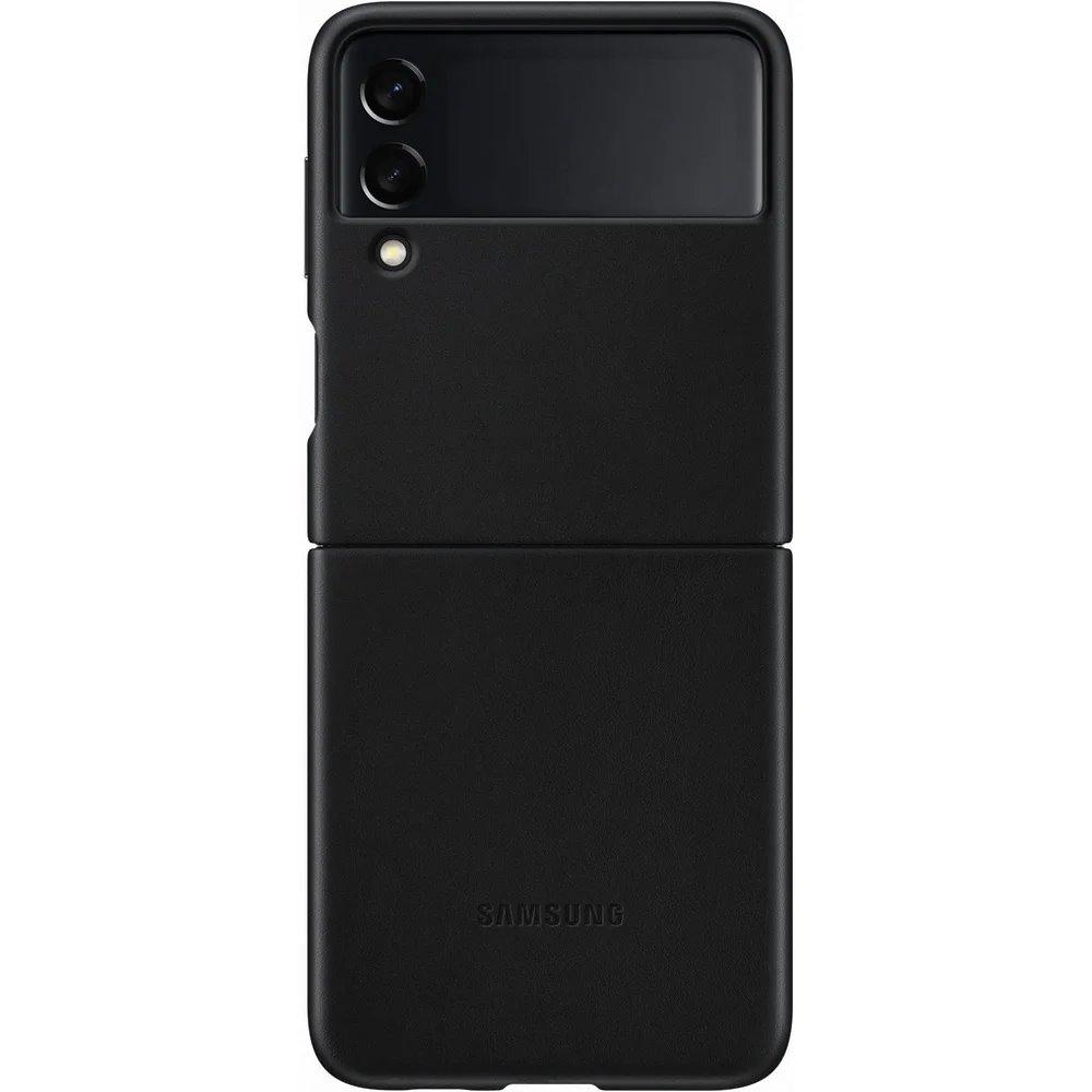 Ochranný kryt Leather Cover EF-VF711LBE pro Samsung Galaxy Z Flip 3, černá