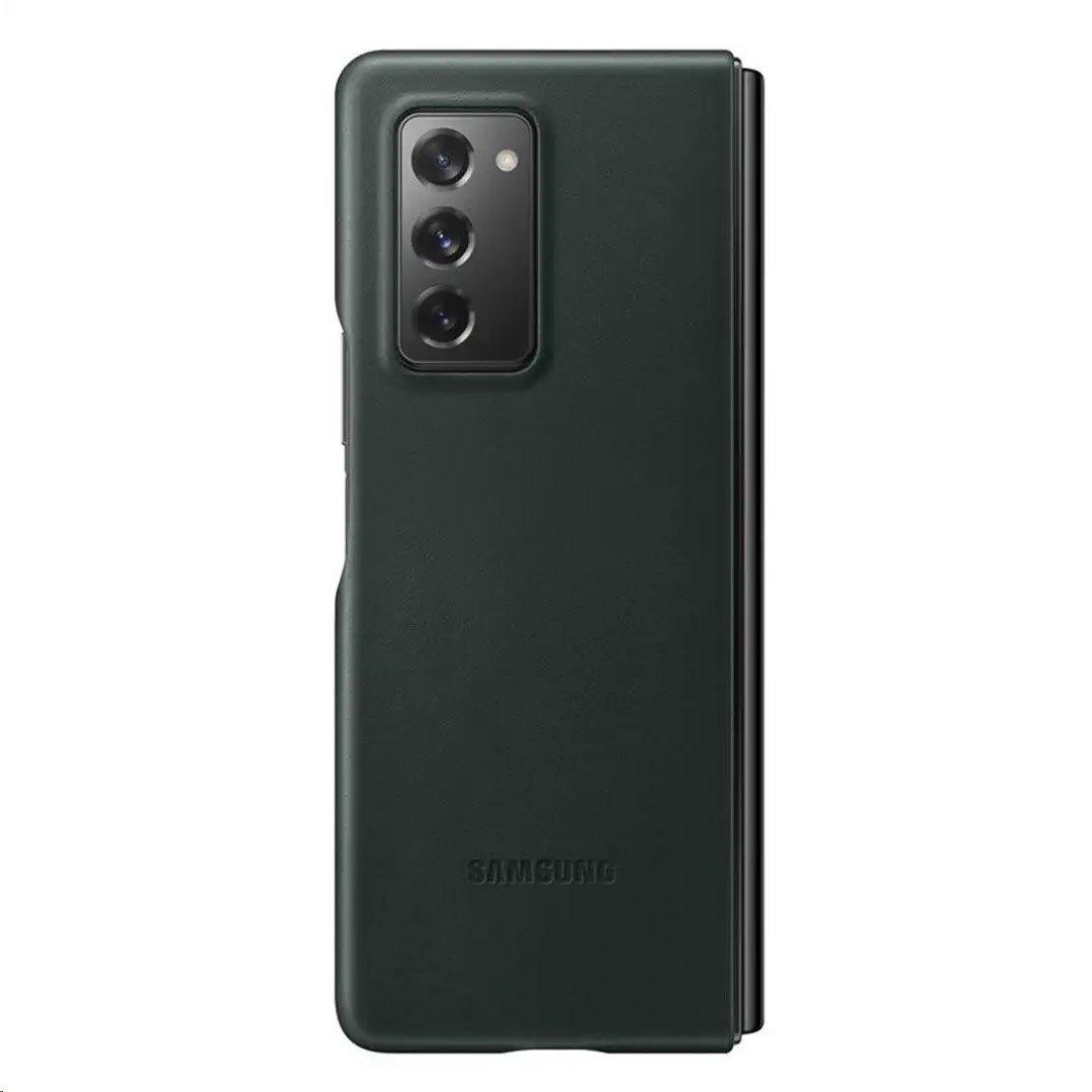 Ochranný kryt Leather Cover EF-VF916LGE pro Samsung Galaxy Z Fold 2, zelená