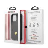 Ochranný kryt Ferrari Leather with Curved Line FEHCP13LRGOK pro Apple iPhone 13 Pro, černá