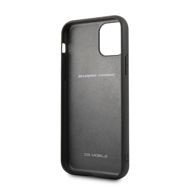 Ochranný kryt Ferrari Off Track Leather Quilted FEHQUHCN61BK pro Apple iPhone 11, černá