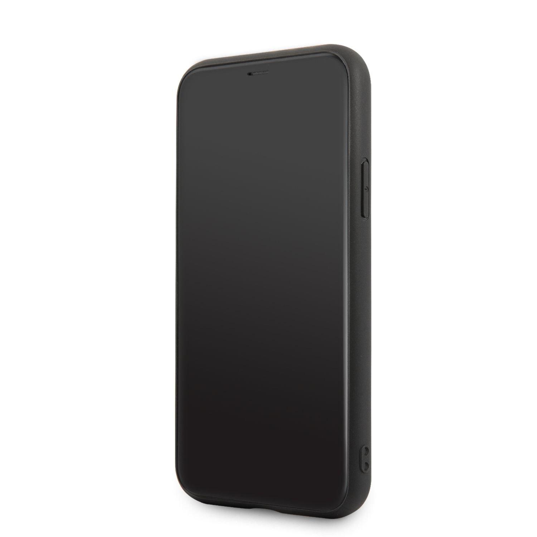 Ochranný kryt Ferrari Off Track Leather Quilted FEHQUHCP12MBK pro Apple iPhone 12/12 Pro, černá